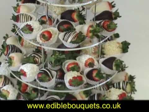Wedding Table Decorations   Strawberry Towers   Fresh Fruit Bouquets And  Platters