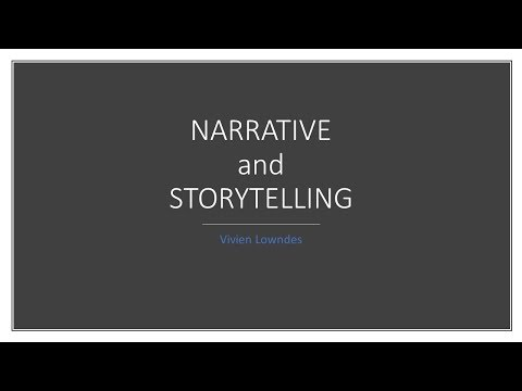 Public Policy Analysis Narrative and Storytelling