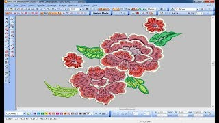 How to digitize flower design wilcom E2 ?
