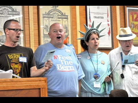 Bernie Sanders song at 52nd District caucus