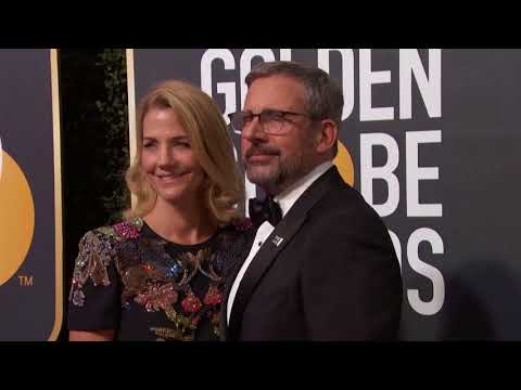 Steve Carell & Nancy Carell Golden Globe Awards Fashion Arrivals 2018