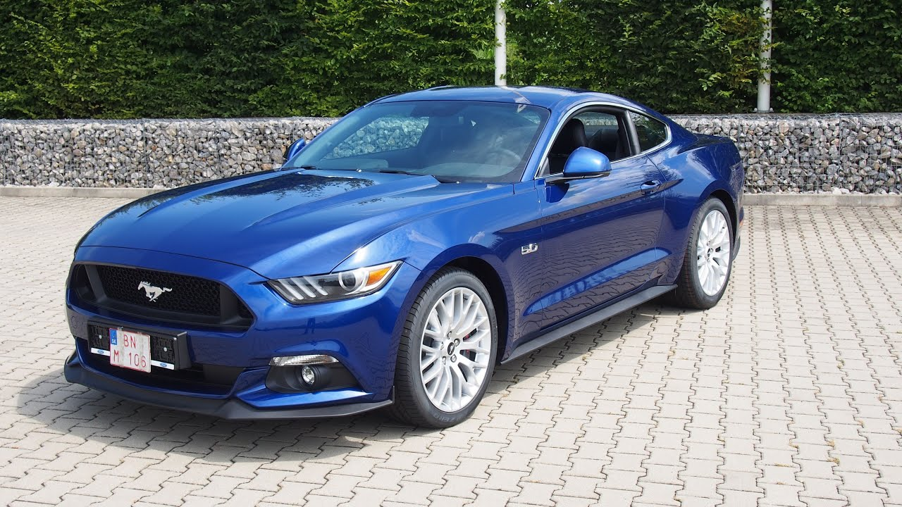Mustang 5 0 Ti Vct V8 Gt Deep Impact Blue Youtube