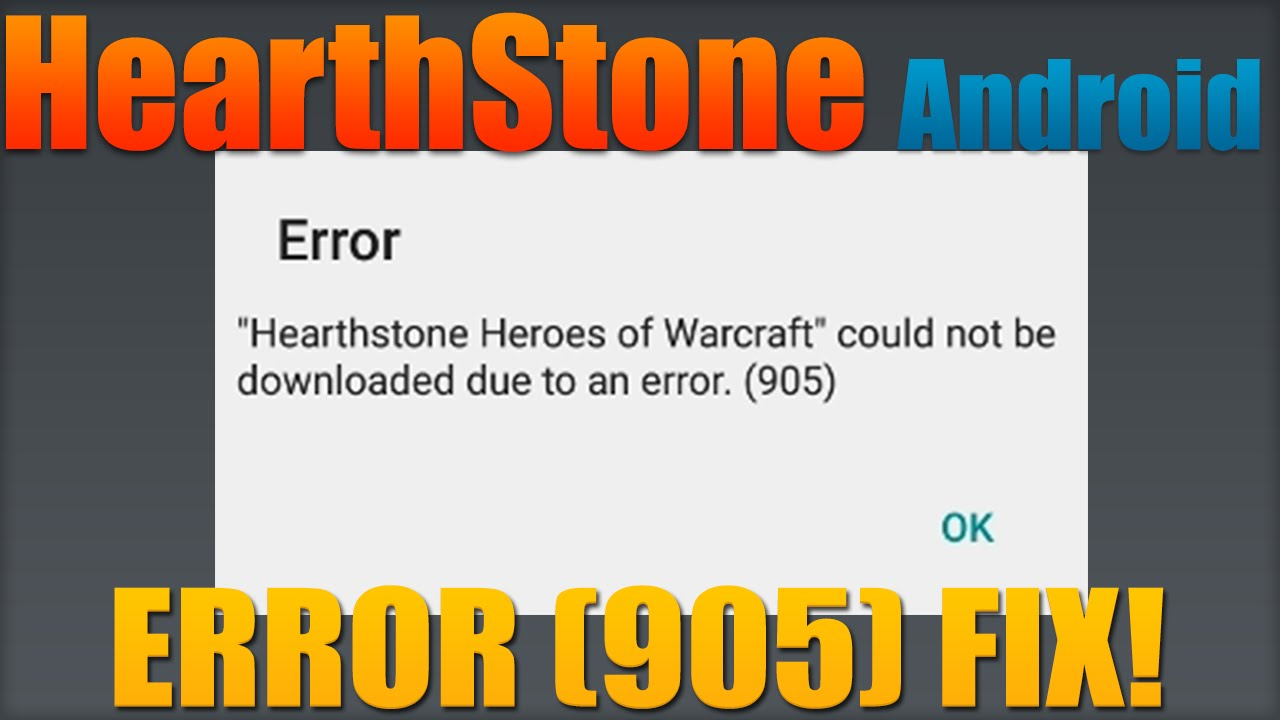 Hearthstone Android: How to Fix