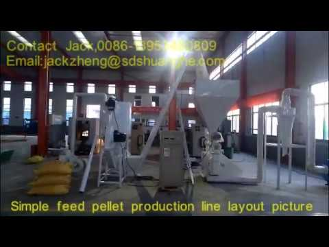 HKJ 250 Simple Chicken Feed Pellet Production Line,Output 1tph,Email jackzheng@sdshuanghe.com