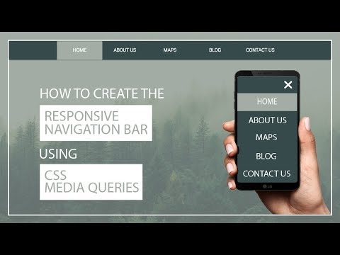 How to create the Responsive Navigation bar Using HTML and CSS -  Responsive Navigation Menu bar
