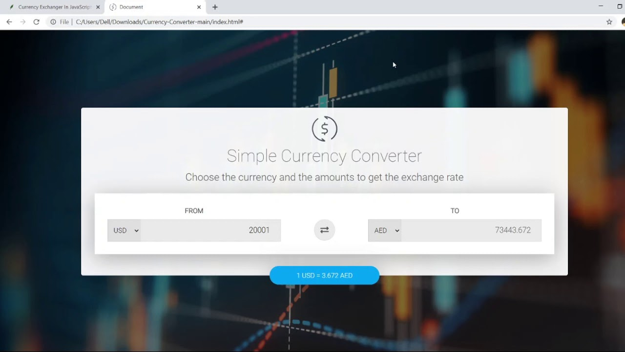 Currency Exchanger In JavaScript With Source Code