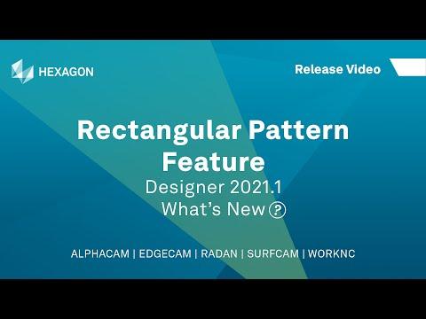 Rectangular Pattern Feature | WORKNC Designer 2021.1