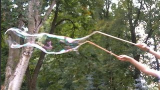DIY Giant Bubble Wand (And Bubbles)