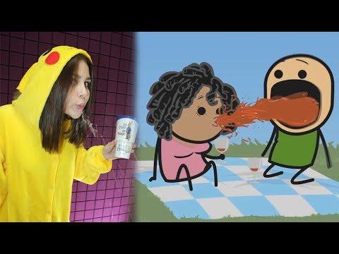 Самое смешное видео в мире. Попробуй не засмеяться с водой во рту челлендж, ч. 40
