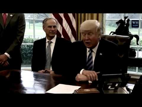 President Trump Meets w/ Charter Communications CEO Thomas Rutledge & Texas Governor Greg Abbott