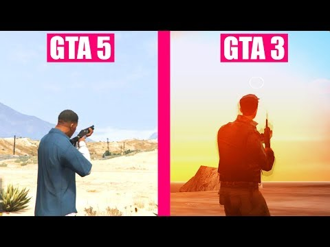 GTA 5 vs GTA 3 Gun Sounds