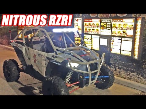 Nitrous RZR 1000 On The STREETS + Drive-Thru!