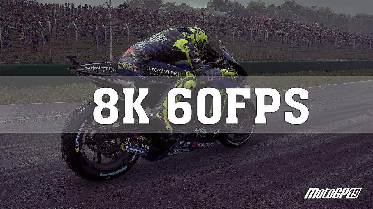 Motogp 19 8k Pc Gameplay 8k 60fps Valentino Rossi Sachsenring Rtx Titan Sli Thirtyir Youtube