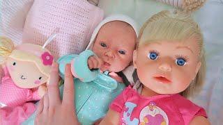 Куклы Пупсики Реборн Оля и Беби Бон Настя. Играем в дочки матери. Детский канал Зырики ТВ