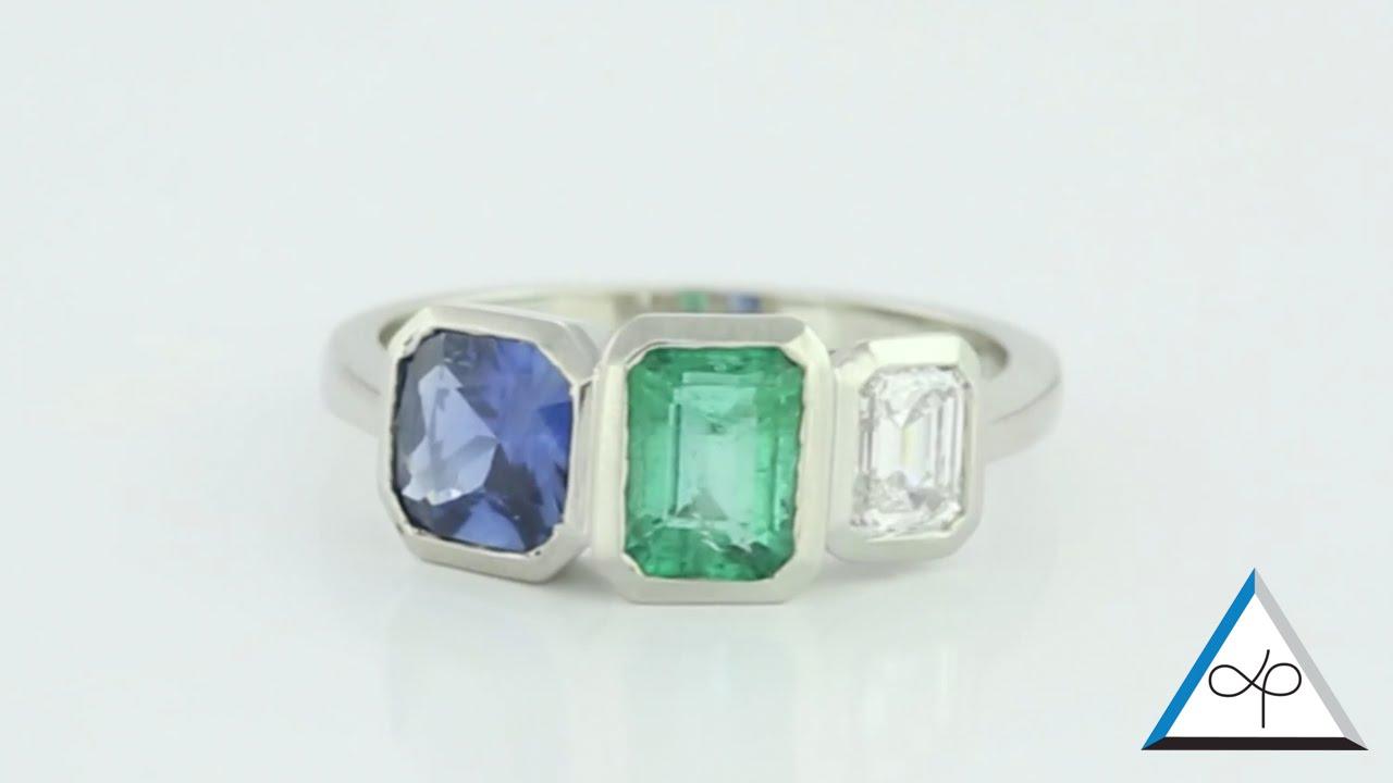 Mens Platinum Sapphire Ring