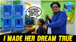 My Sister Dream Completed Wish in 3mis | Garena Free Fire