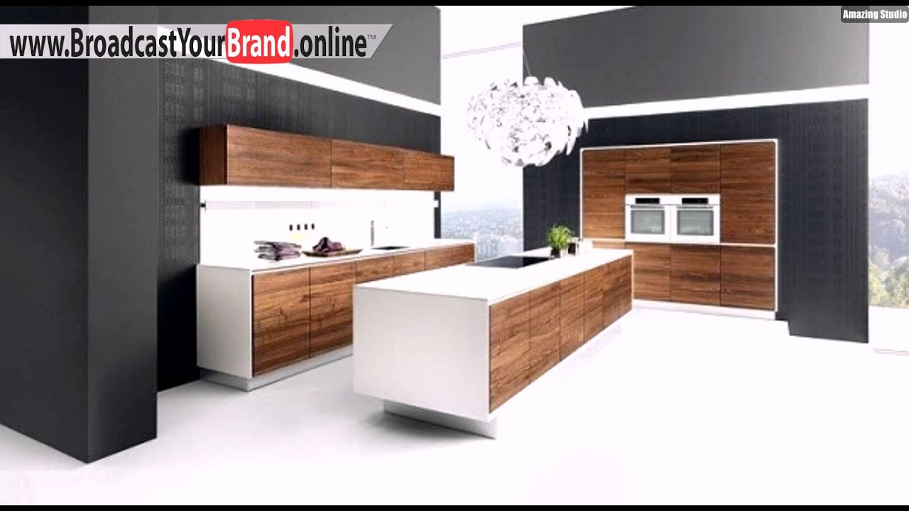 walnuss holz k che modernes outfit einrichtung youtube. Black Bedroom Furniture Sets. Home Design Ideas