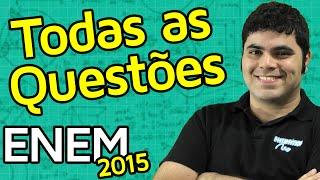 TODAS AS QUESTÕES DE MATEMÁTICA DO ENEM 2015 RESOLVIDAS | Matemática Rio
