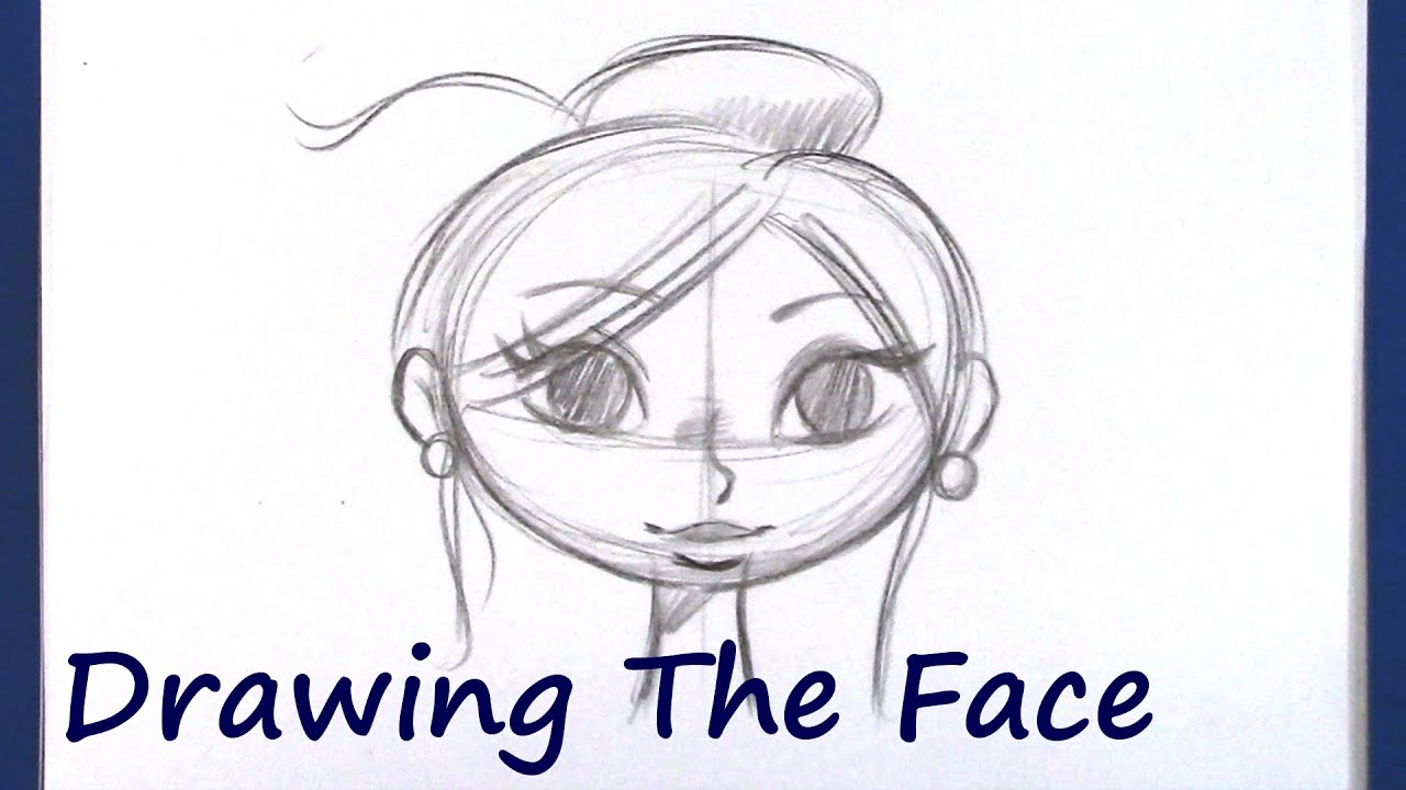 How to Draw A Cartoon Face (Beginner Level) - YouTube