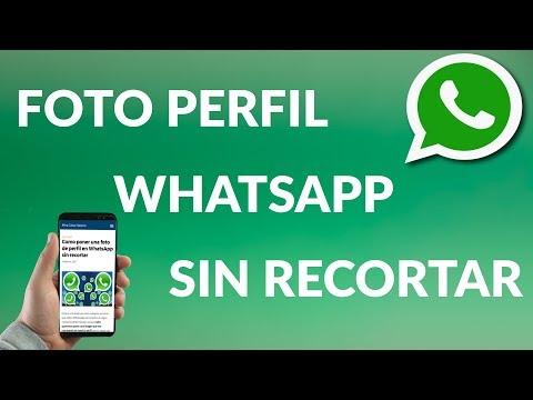 ¿Cómo Poner una Foto de Perfil en WhatsApp SIN Recortar?