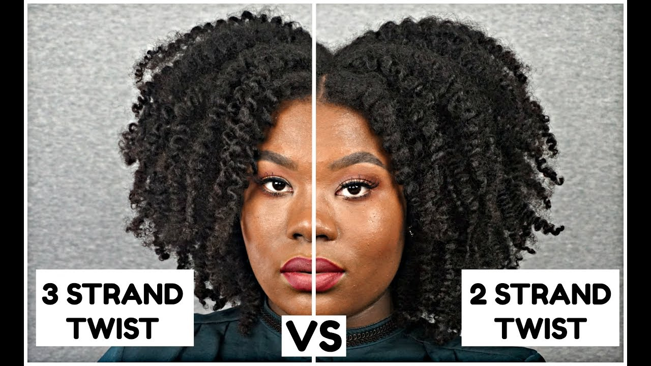 #2 Hair Comparison: 2 Strand Twist Out VS 3 Strand Twist