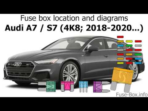 fuse box location and diagrams: audi a7 / s7 (2018-2020...) - youtube  youtube