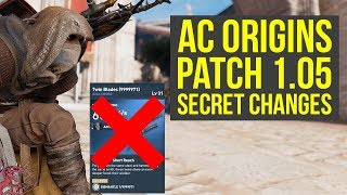 Assassin's Creed Origins Update 1.05 SECRET CHANGES They Did Not Tell You About (AC Origins)