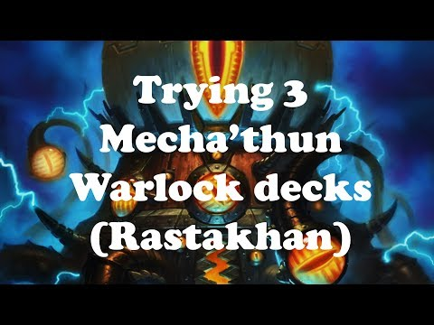 Hearthstone [WILD] Trying Mecha'thun Warlock decks: Showdown with Weasel Priest! (1080p)
