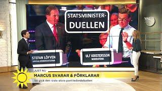 """Så blir statsministerduellen ikväll: """"Det är som ett amerikanskt presidentval"""" - Nyhetsmorgon (TV4)"""