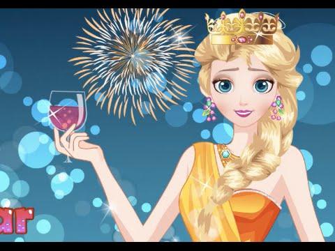 elsa frozen happy new year elsa frozen games elsa new year party youtube