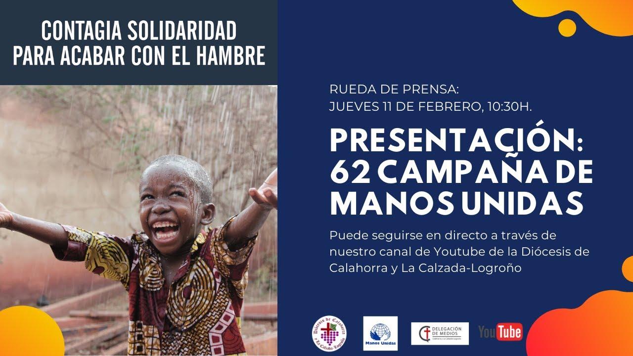 """Campaña de Manos Unidas 2021: """"Contagia solidaridad para acabar con el hambre"""""""