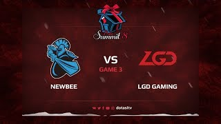 Newbee против LGD Gaming, Третья карта, Квалификация на Dota Summit 8