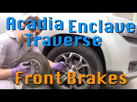 How to replace front brakes on GMC Acadia Buick Enclave Chevy Traverse