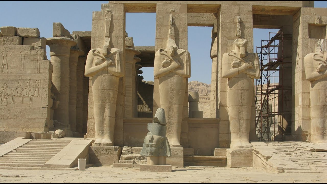 beauty of ancient egypt temple of the ramesseum at luxor youtube