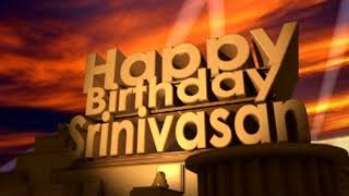 Happy Birthday Srinivasan