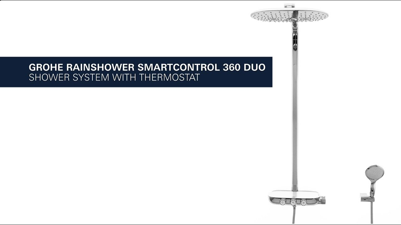grohe rainshower smartcontrol 360 duo exposed luxurious. Black Bedroom Furniture Sets. Home Design Ideas