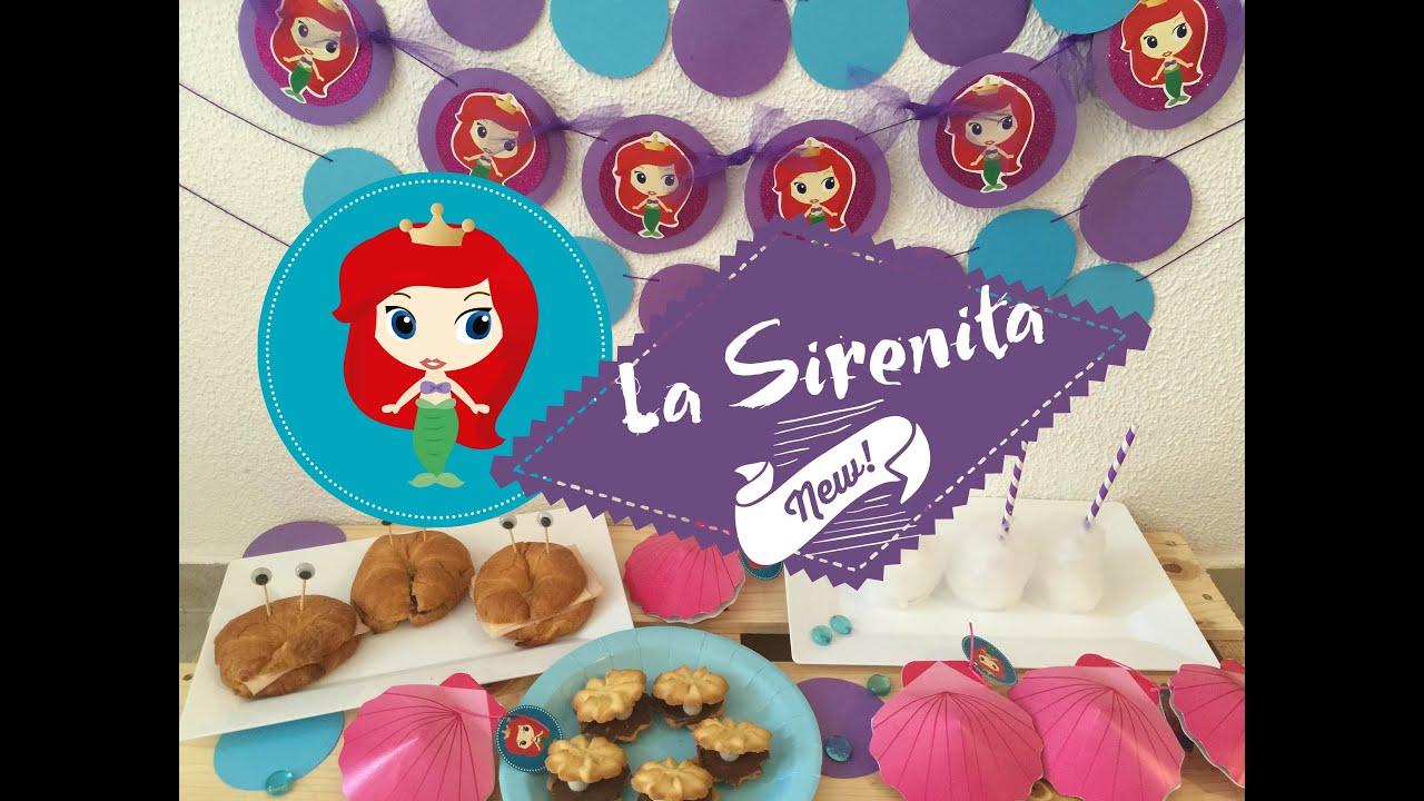 o hacer una mesa de dulces de La Sirenita