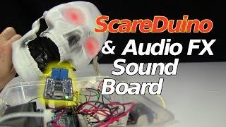 ScareDuino & Adafruit Audio FX Sound Board for Halloween