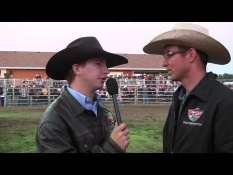 Justin Volz talks about 917 Pound the Alarm in Oyen, AB (CPRA) '13