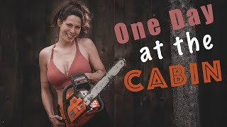 One Day at oขr Cabin | Cabin Life in northern Canada | off grid family