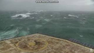 Hurricane Matthew at the Frying Pan Tower NC Coast 10-8-2016