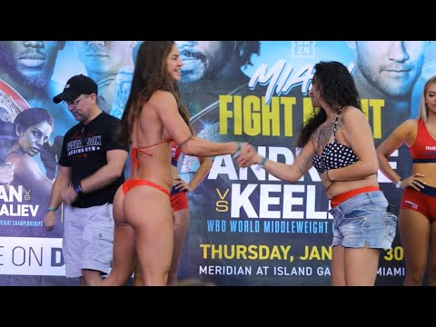 WOW 🔥 THONG WEIGH IN FOR AVRIL MATHIE IN MIAMI
