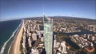 DJI Phantom flies over Australas tallest building, the Q1 Tower!!