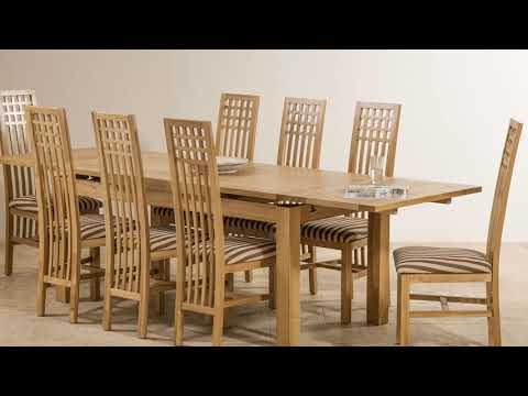 Extending Oak Dining Table and Chairs Furniture