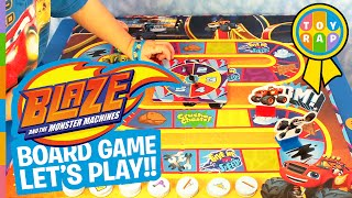 Blaze and the Monster Machines Monster Dome Challenge Board Game LetsPlay Review By ToyRap