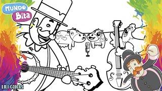 Mundo Bita Cantando na FAZENDINHA com muitos bichinhos|Vídeo Infantil