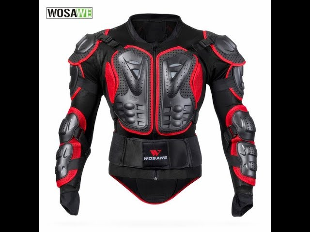 WOSAWE Motorcycle Armor Windproof Men Womens Jackets Body Armor Clothing Guard Support Motocross Jac