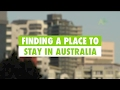 Learn English  Finding a place to stay in Australia