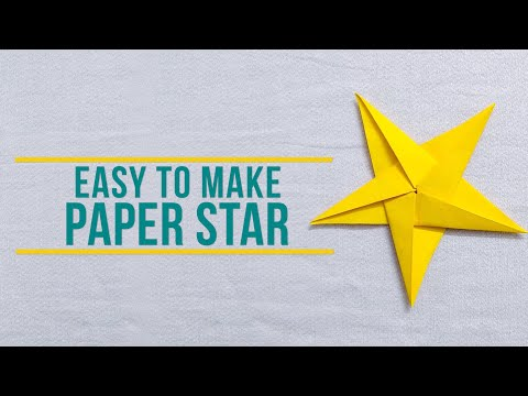 HOW TO MAKE PAPER STAR   EASY TO MAKE PAPER STAR   4K VIDEO