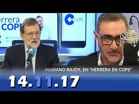 Carlos Herrera entrevista a Mariano Rajoy 14.11.2017 Primera entrevista tras el 155